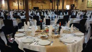 Preparativos cena fin de año en Restaurante Ben-Hur