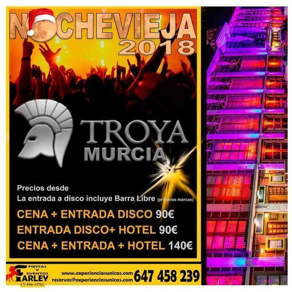 Fin de año en Murcia 2018 Discoteca Teatre