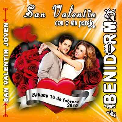 Dia de los enamorados especial jovenes 2019 en benidorm