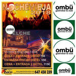 Fin de año en Elche Ombü Gastrobar & Club