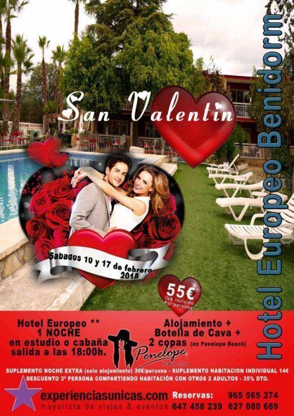 dia de los enamorados en benidorm hotel europeo