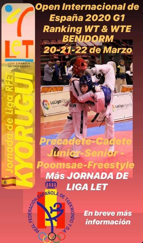 Taeekwondo open internacional España Benidorm 2020