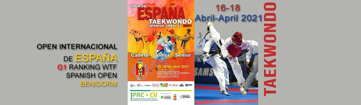 Taekwondo open internacional españa 2021, Benidorm